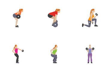 Fitness And Exercises Characters 2 Icon Pack