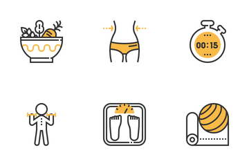 Fitness And Health Icon Pack