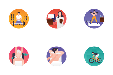 Fitness And Spa Icon Pack