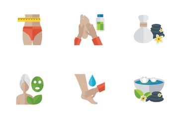 Fitness And Spa Flat Icons Icon Pack