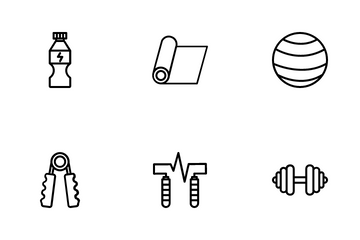 Fitness And Training Icon Pack