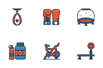 Fitness Equipment Icon Pack