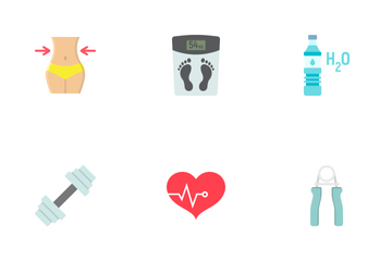 Fitness Flat Icons Icon Pack