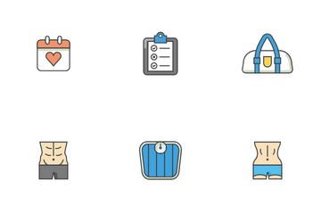 Fitness Gerenal Icon Pack