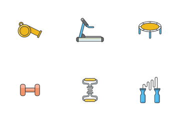 Fitness Gym Tools Icon Pack