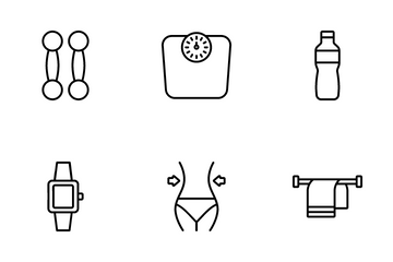 Fitness Line Art Icon Pack