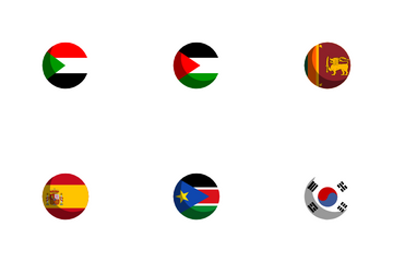 Flags Circle Icon Pack