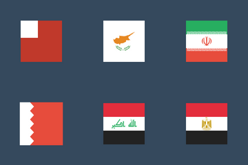 Flags Of Middle East Icon Pack