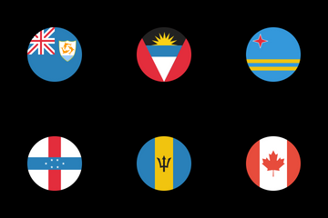 Flags Of North America Icon Pack