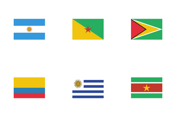 Flags Of South America Icon Pack