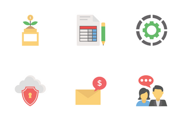 Flat Business Icons 2 Icon Pack