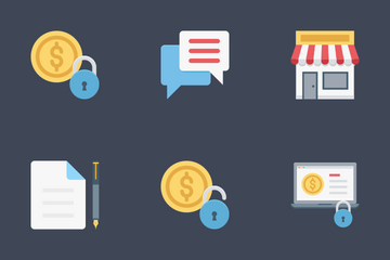Flat Finance Icon Pack