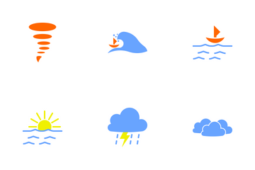 Flat Forecast Weather Icon Pack