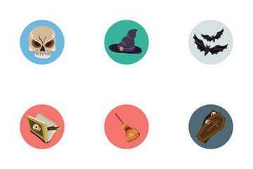 Flat Halloween Icons Icon Pack