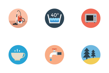 Flat Hotel Icons Icon Pack