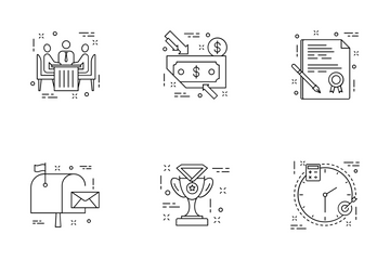 Flat Line Icons Icon Pack