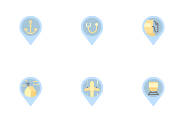 Flat Location Pin Icon Pack
