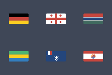 Flat Rectangular Flag Icon Set Icon Pack