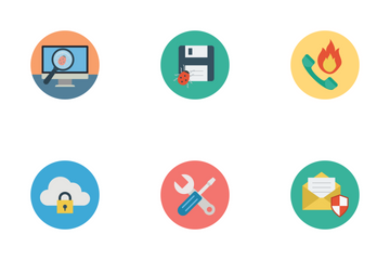 Flat Security Icons Icon Pack