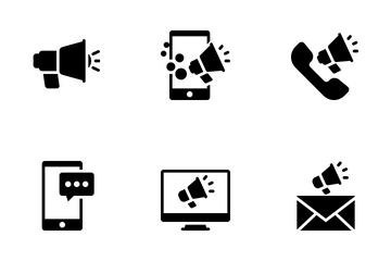 Flatie Glyph SEO & Marketing Icon Pack