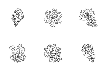 Floral Elements Icon Pack