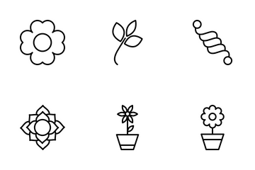Florals And Flower Icon Pack