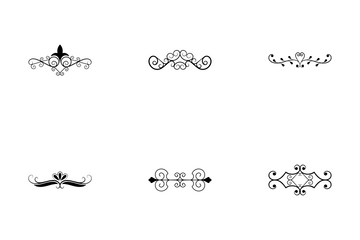 Flourishes And Calligraphic Elements Icon Pack