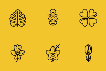 Flower And Leaf Icon Pack