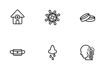 Flu And Treatment Icon Pack