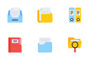 Folders And Messages Icon Pack
