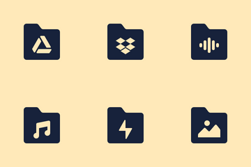 Folders Icon Pack Glyph Icon Pack