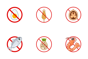 Food Allergens Icon Pack
