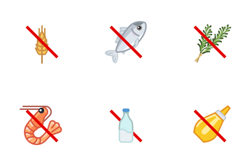 Food Allergens / Bold Line Icon Pack