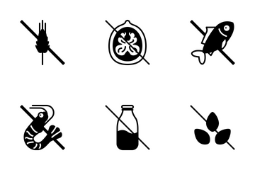 Food Allergens / Line (glyph) Icon Pack