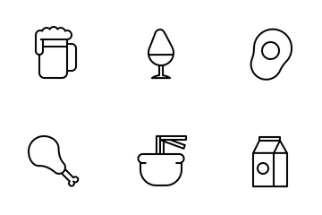 Food And Beverages Icon Pack
