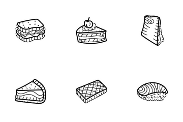 Food And Drinks Hand Drawn Icon Pack