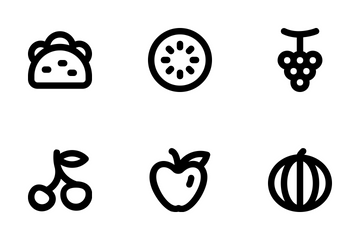 Food And Drinks Line Icons  Icon Pack