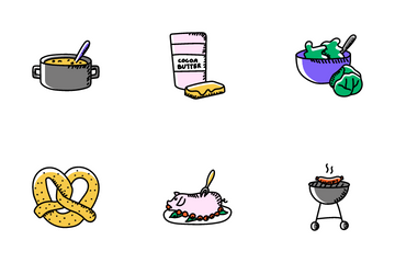 Food And Vegetables Icon Pack