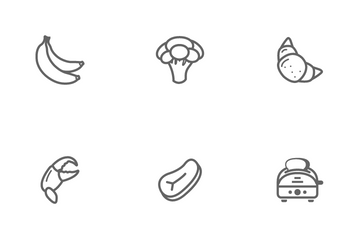 Food Beverage And Kitchen Icon Pack
