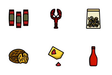 Food Bold Outline Color Icon Pack