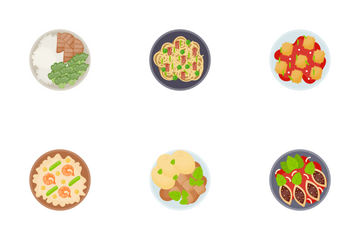 Food Dishes Icon Pack