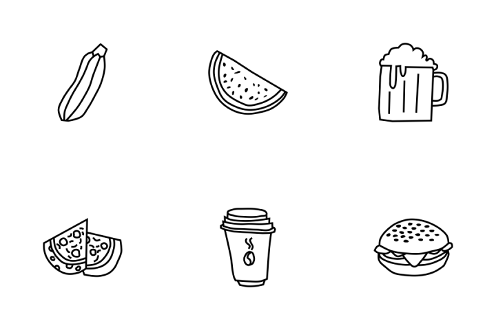 Premium Food Doodles Icon Pack Download In Svg Png Eps Ai Ico