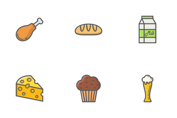 Food & Drink Filled Outline Icons Icon Pack