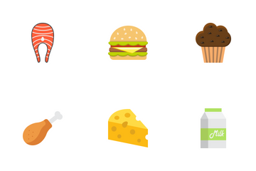 Food & Drink Flat Icons Icon Pack