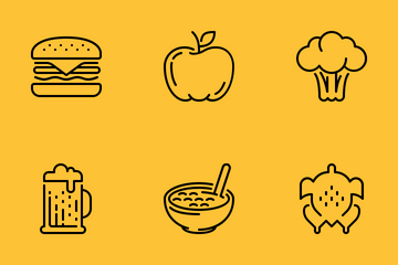 Food & Drink Outline Icon Pack