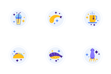 Food Drinks Icon Pack