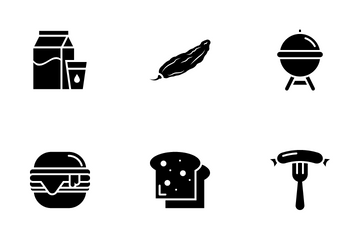 Food & Drinks Glyph Icon Pack