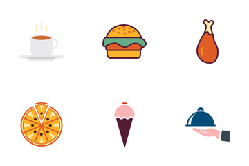 Food & Drinks Multicolor Icon Pack