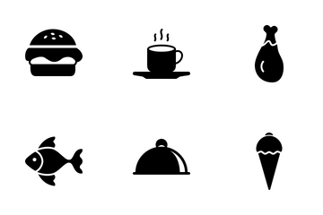 Food & Drinks Solid Icon Pack