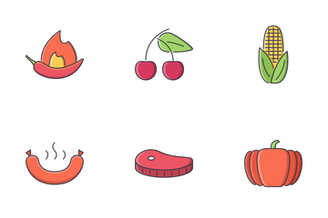 Food Filled Outline Icon Pack